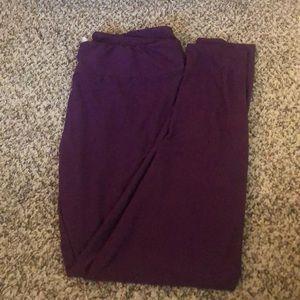 Purple Lularoe leggings